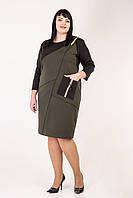 Повсякденне жіноче плаття кольору хакі, фото 1