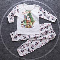 Пижама с начесом Новогодний Дисней р. 74 - 128 мальчик. девочка