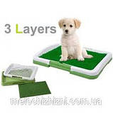 Туалет для собак Puppy Potty Pad, размеры: 47х34х6 см., фото 3