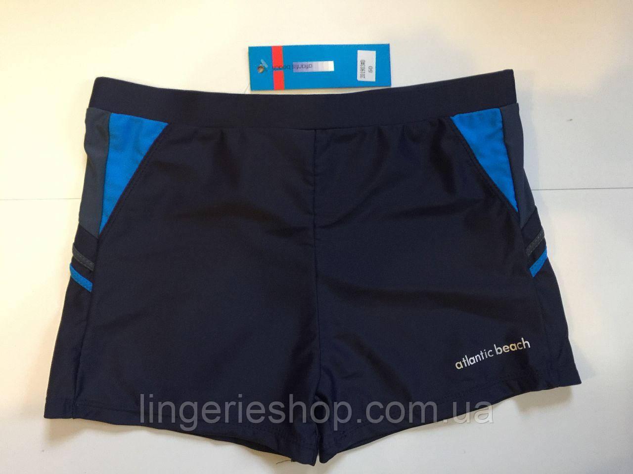Плавки-шорты мужские Atlantic синий с голубым