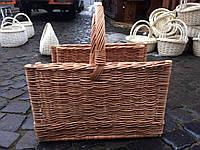 Плетение дровници из цельной лозы