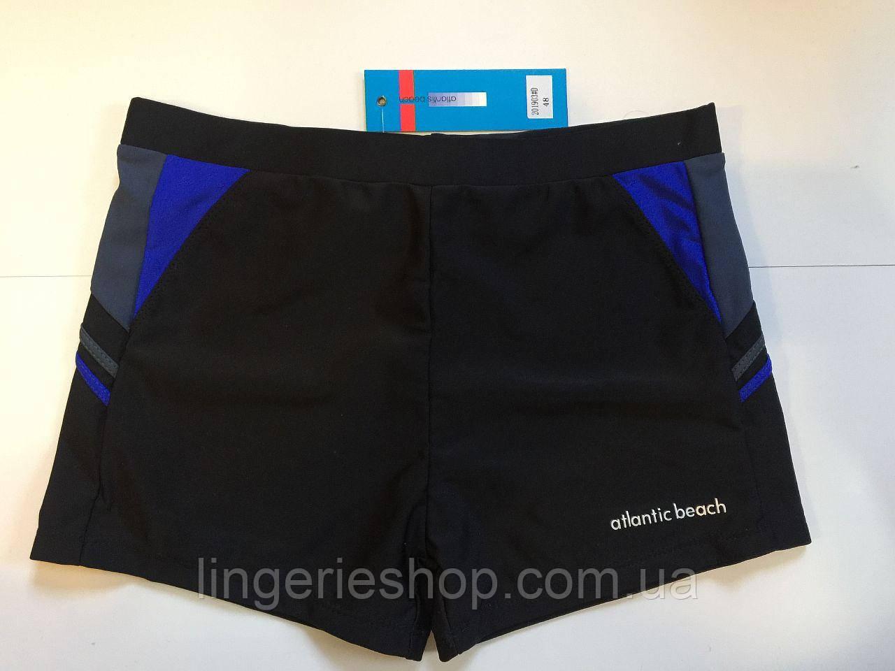 Плавки-шорты мужские Atlantic черный с электрик