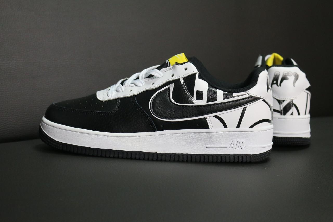 57ac1cec Мужские кроссовки в стиле Nike Air Force 1 LOW (black/white), найк ...