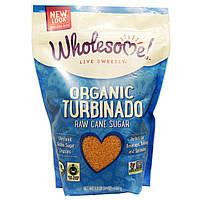 Wholesome Sweeteners, Inc., Органический турбинадо, нерафинированный тростниковый сахар, 24 унции (680 г)