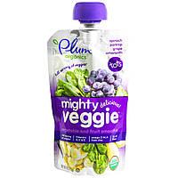 Plum Organics, Органическое питание Mighty Veggie, смузи из овощей и фруктов, 113 г