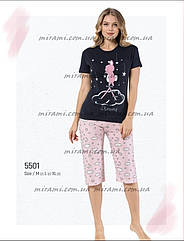 Молодежные пижамы футболка и бриджи, цвета разные