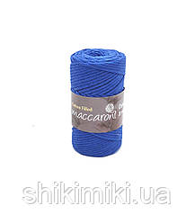 Трикотажный хлопковый шнур Cotton Filled 3 мм, цвет Синий лектрик