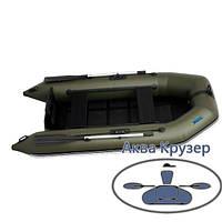 Лодка надувная моторная ПВХ Омега Ω 260 М со стационарным транцем, плоскодонная