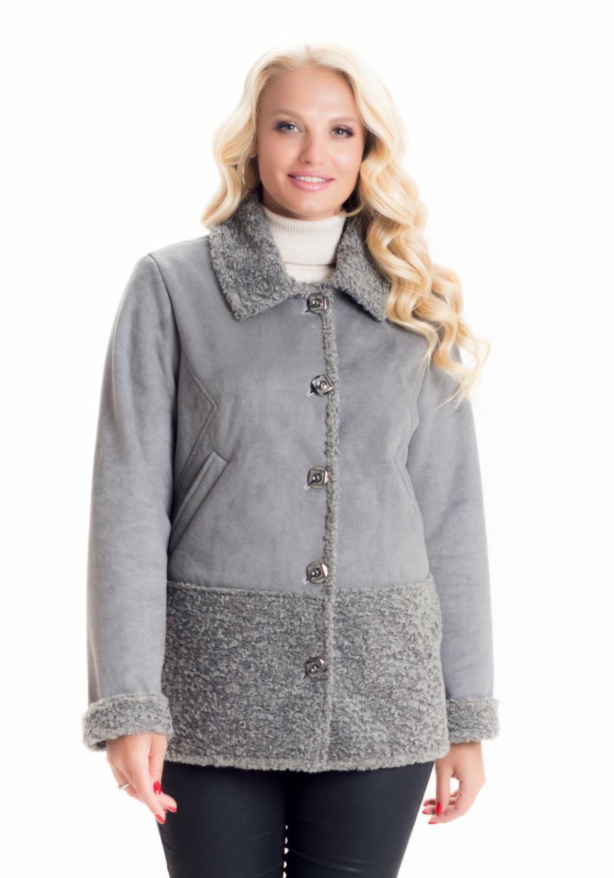 Стильная демисезонная дубленка куртка
