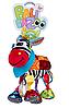 Игрушка с грызунком Ослик Дейв Balibazoo (Высота 26 см), фото 9