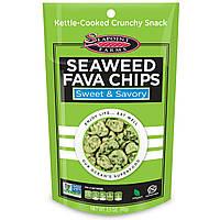 Seapoint Farms, Чипсы из конских бобов и морских водорослей, сладкие и пикантные, 3,5 унции (99 г)