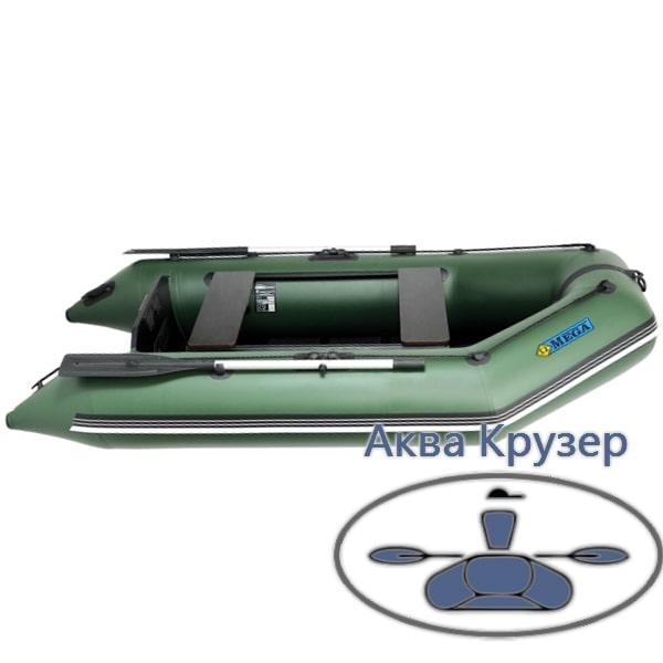 Моторний човен ПВХ Omega Ω 270 М (слань, аирдек, слань-книжка)