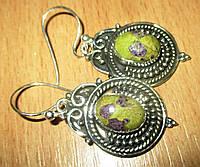 Серебряные серьги с атлантиситом  от студии LadyStyle.Biz