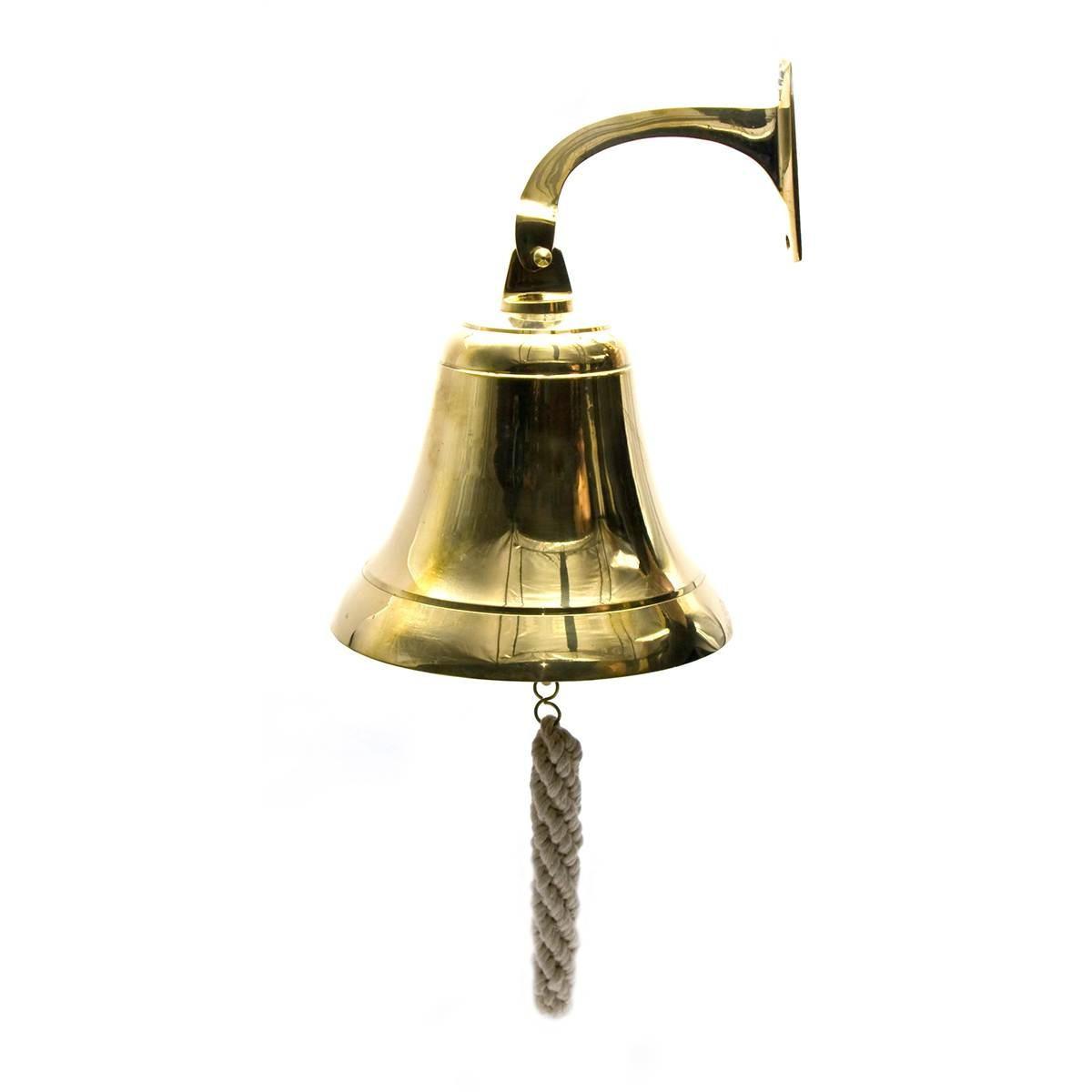 Колокол рында бронзовая хром (d-18 см h-23 см)(7)(1375 гр.)