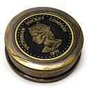 Компас морской бронзовый Victorian pocket compas(d-6,h-2 см), фото 2