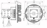 Вытяжной дымосос для твердотопливного котла МplusM Улитка WWK 180/60W Ø-180 (диаметр дымохода 180мм), фото 5