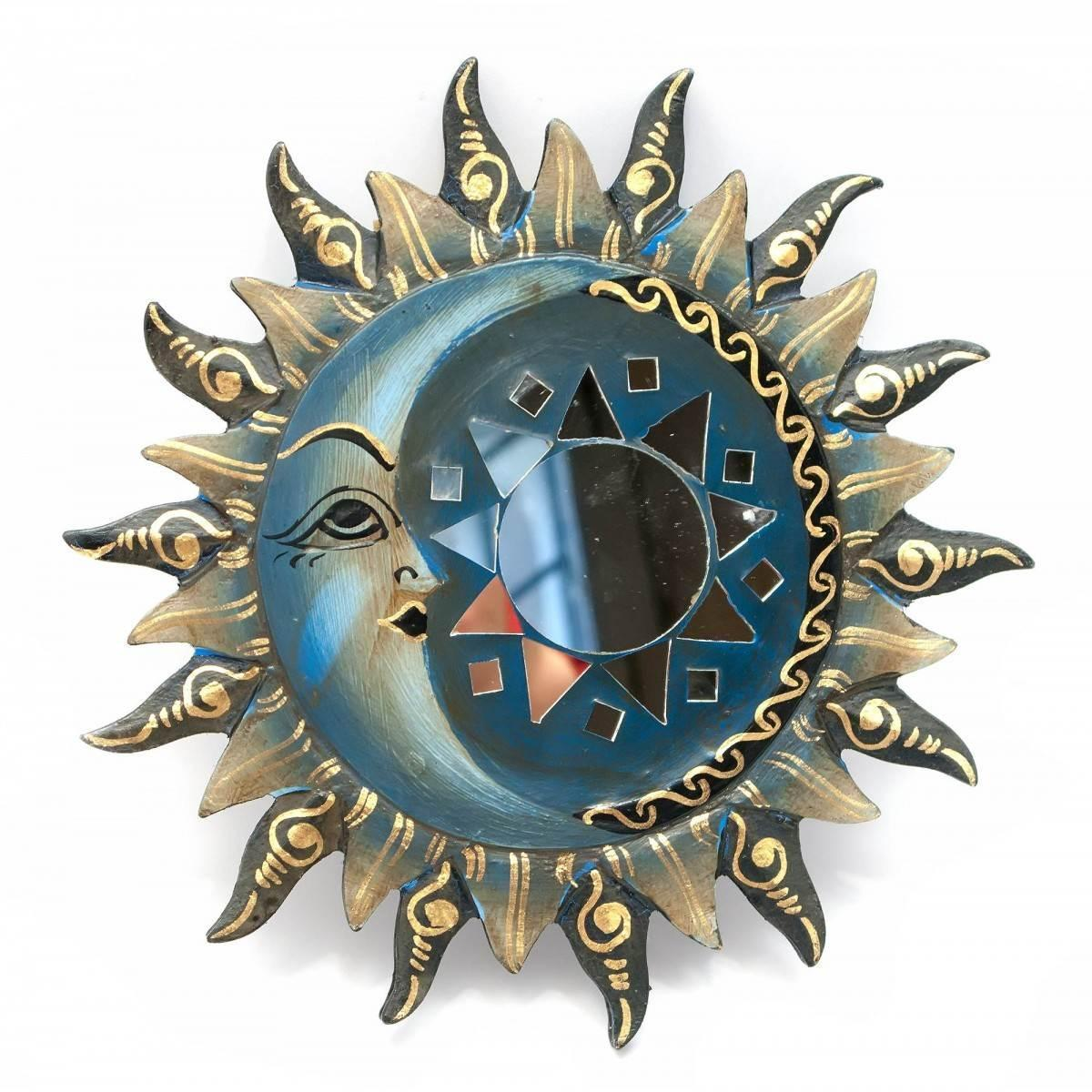 Зеркало мозаичное Солнце и Луна (d-20 cм)