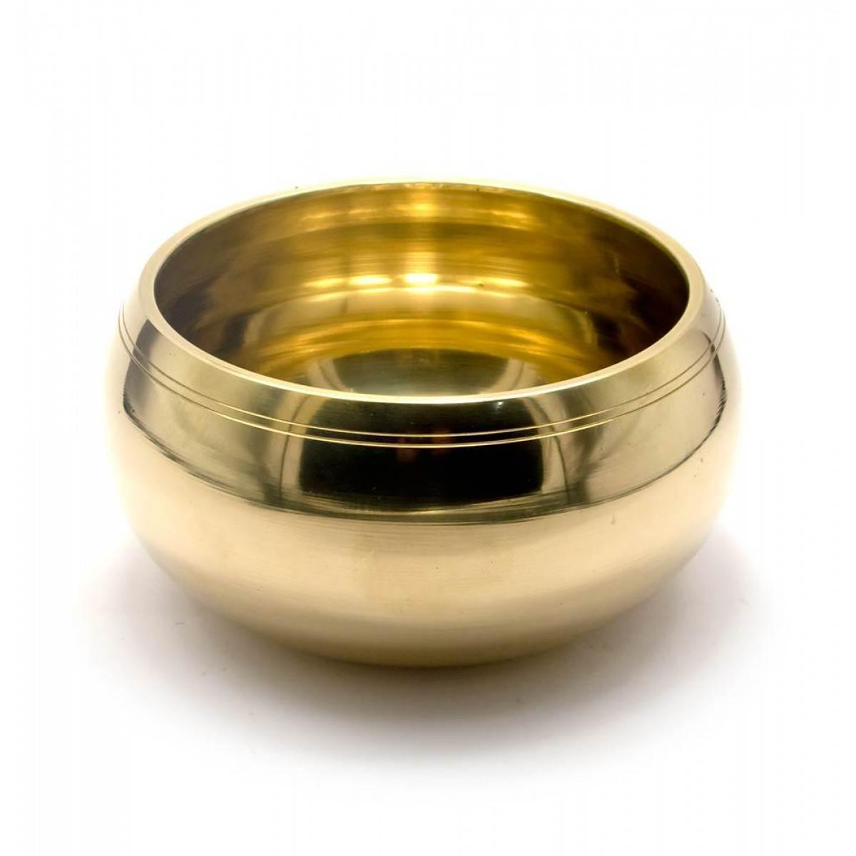 Чаша поющая бронзовая (без резонатора)(d-14 см h-7,5 см)(700 г.)