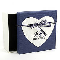 Подарочная коробка с аппликацией Best Wishes 19 x 19 x 9.5 см