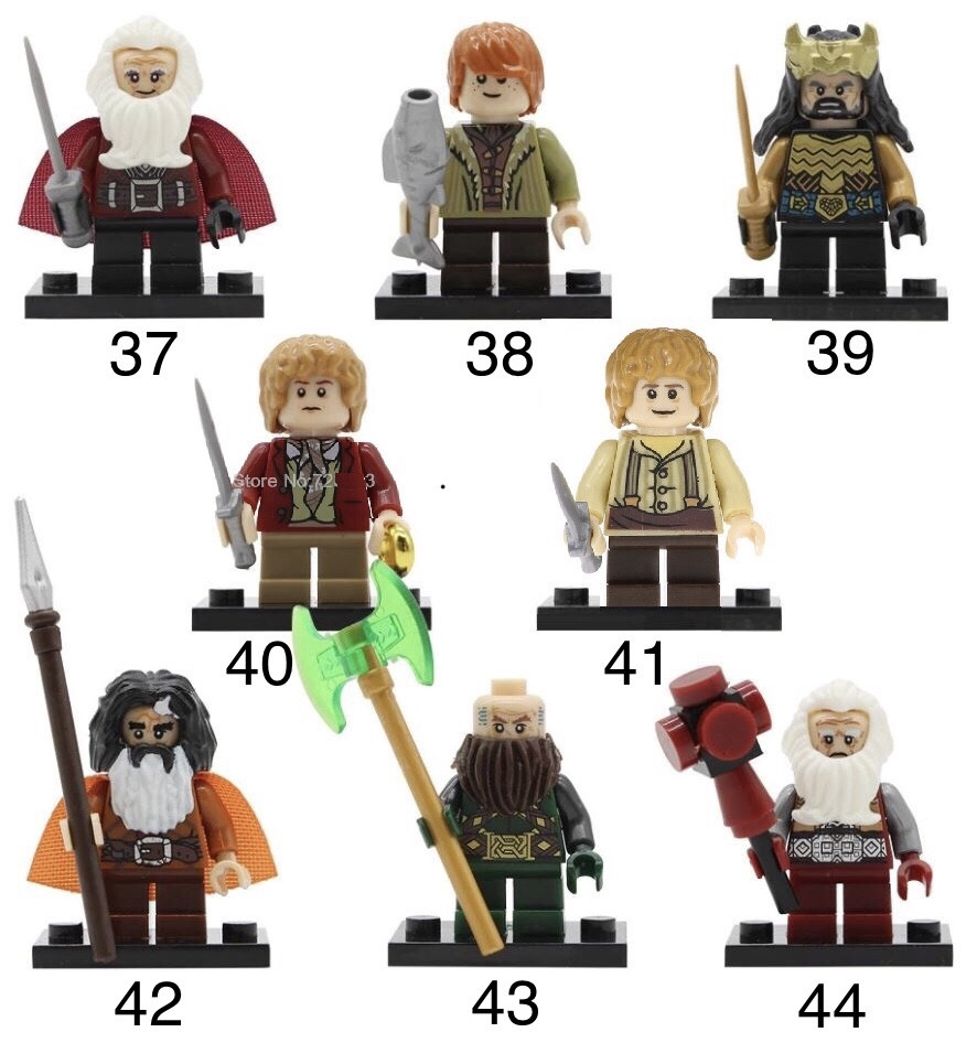 Властелин колец Lord of the Rings мини-фигурки Лего Lego фродо бэггинс,Гэндальф,Арагорн,Саурон,Леголас