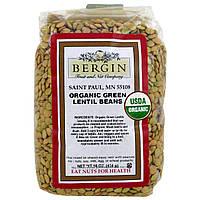 Bergin Fruit and Nut Company, Органические зеленые бобы чечевицы, 454 г (16 унций)