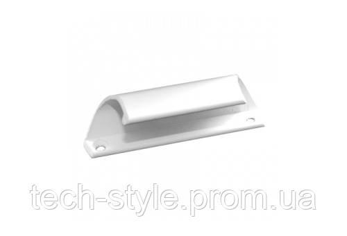 Ручка балконная алюминевая(полукруглая) белая