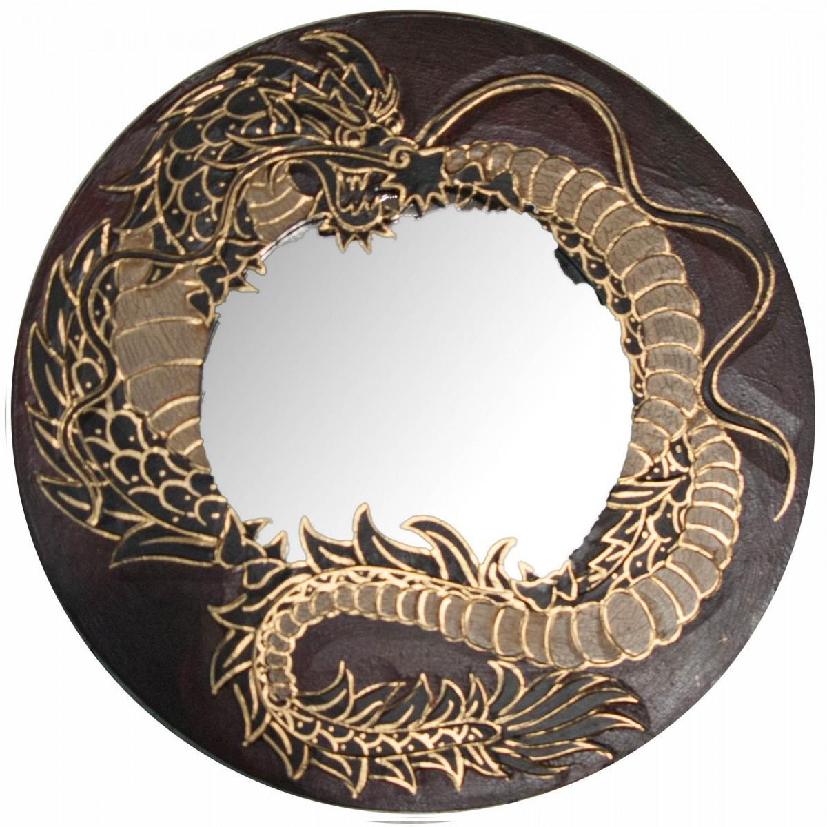 Зеркало мозаичное Дракон красный (d-30 cм)