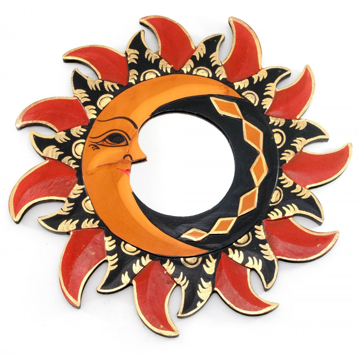Зеркало мозаичное Солнце и Луна (d-30 cм)