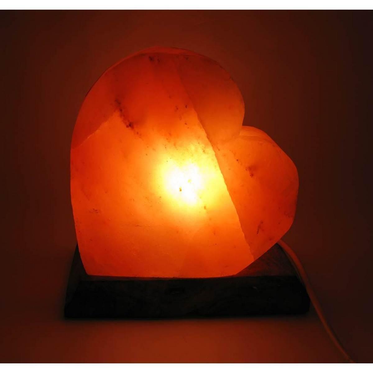 Соляная лампа Сердце 3,1кг. (SL-24)(18х18х10 см)(8 шт ящ.)(Гималайская соль)
