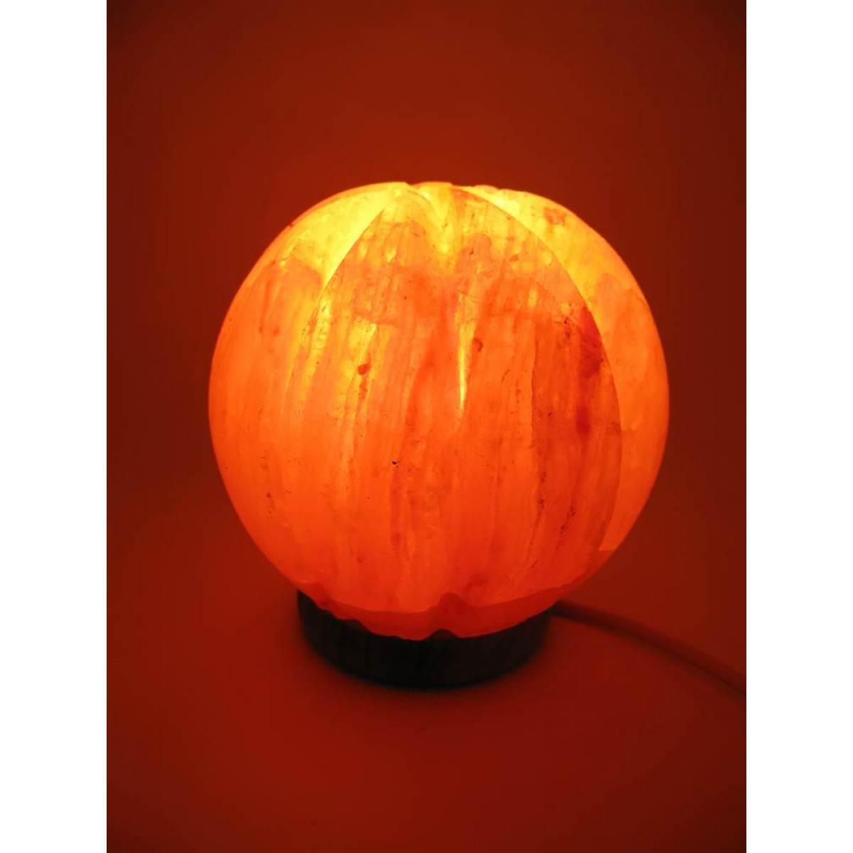 Соляная лампа (SL-33) Апельсин (d-14,h-15 см)(8 шт ящ.)(Гималайская соль)