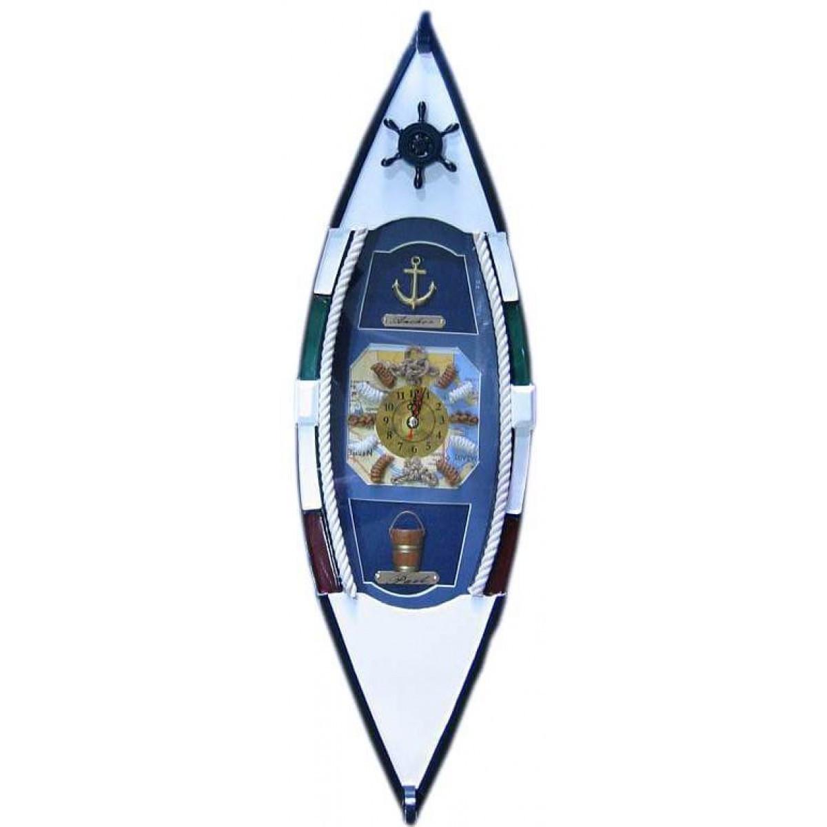 Ключница Лодка с часами (49,5х15х10 см)(J49615A-HM496152-BS)