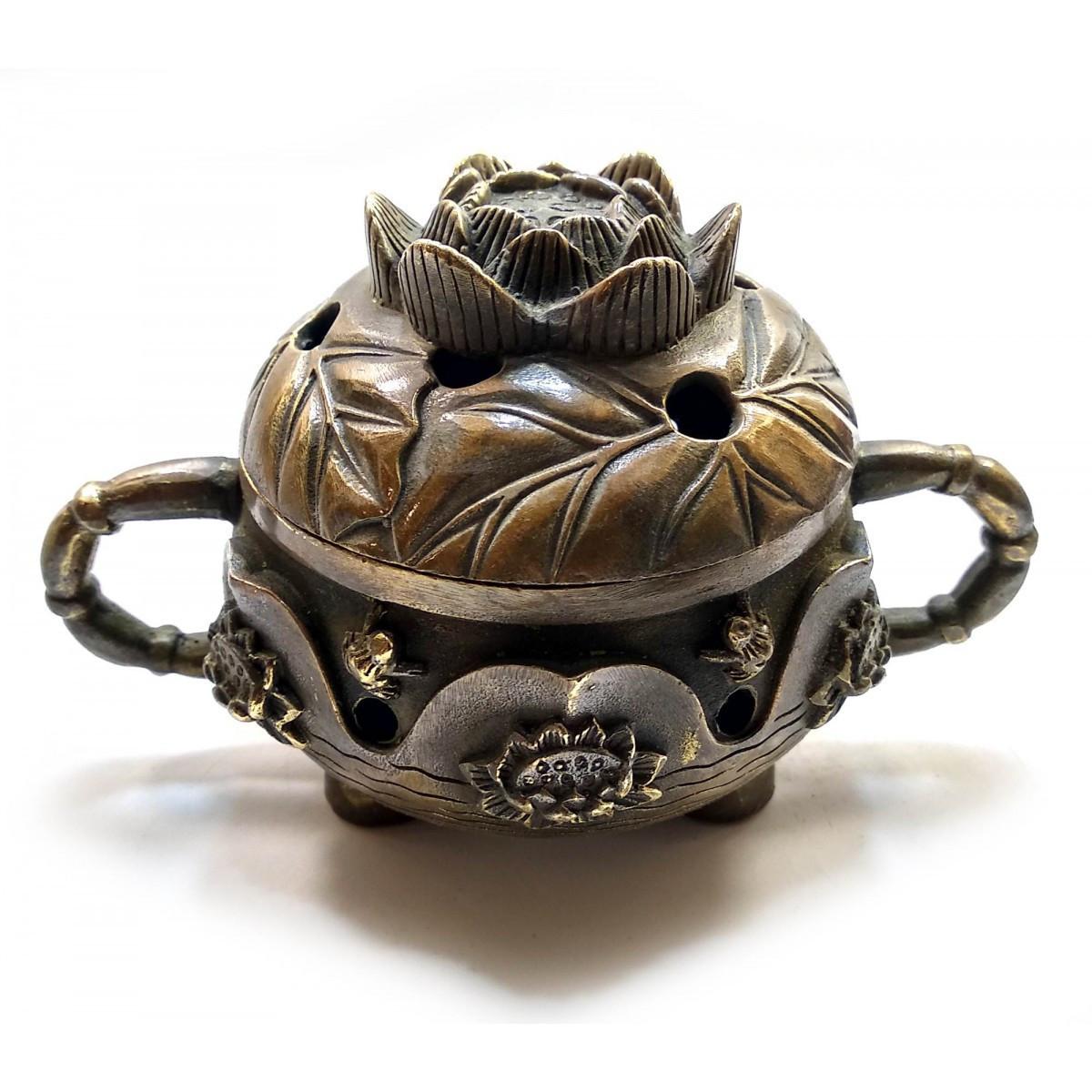 Курительница бронзовая Лотос (12х8х8 см)