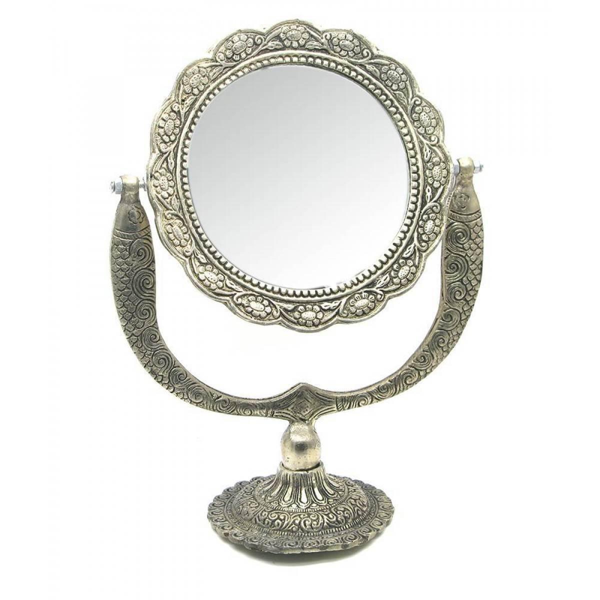 Зеркало настольное Серебро (27,5х21х10,5см)