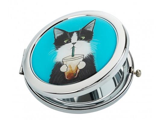 Зеркальце Кот со стаканом