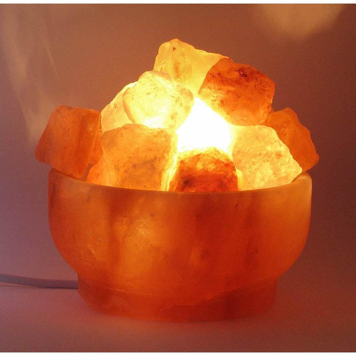 Соляная лампа (S-029) Чаша огня (d-16,h-8 см)(12 шт ящ.)(Гималайская соль)