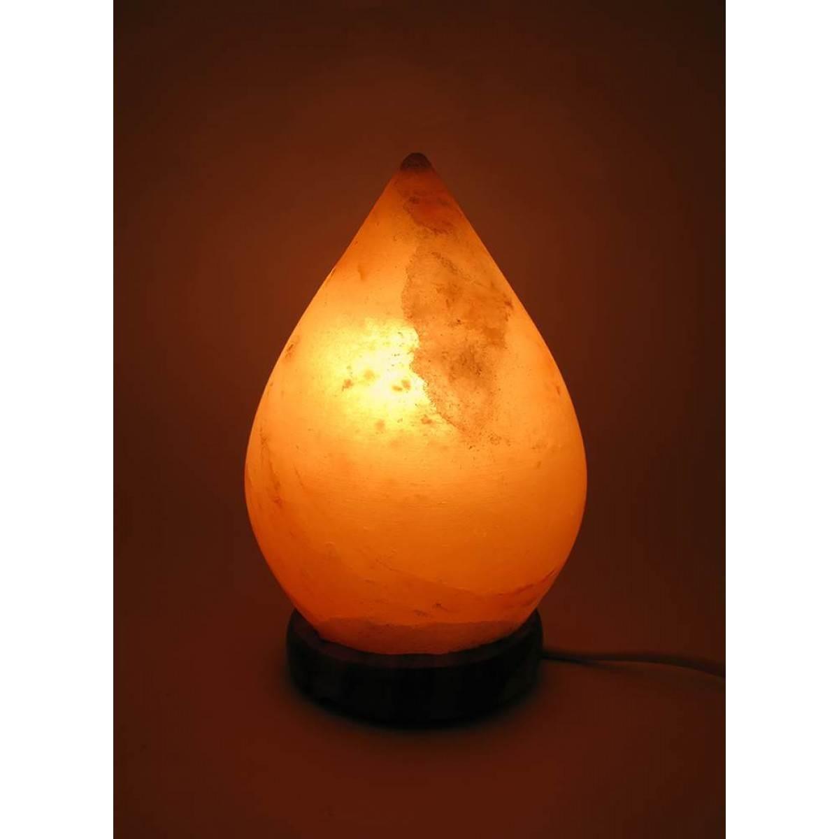 Соляная лампа Капля 1,9кг. (SL-15)(17х10х10 см)(8 шт ящ.)(Гималайская соль)