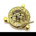 Солнечные часы с компасом бронзовые (12х12х4 см.), фото 3