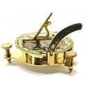 Солнечные часы с компасом бронзовые (12х12х4 см.), фото 4