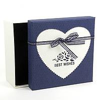 Подарочная коробка с аппликацией Best Wishes 15 x 15 x 7.5 см