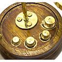 Весы бронзовые на деревянной подставке (10 гр.)(15х6х9 см), фото 2