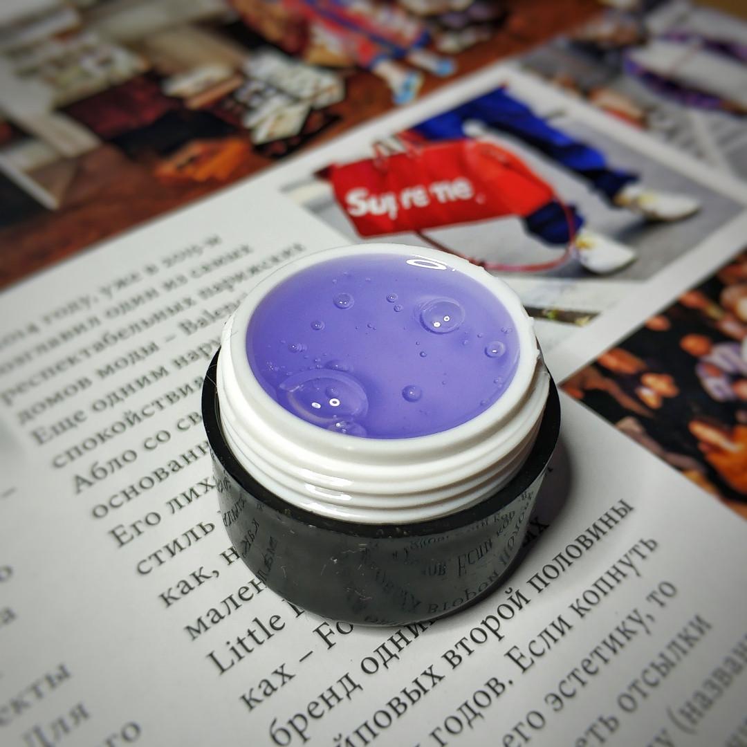 Пробник Гель прозрачно фиолетовый однофазный ПРОЗРАЧНЫЙ ГЕЛЬ BASE ONE Германия 5 мл
