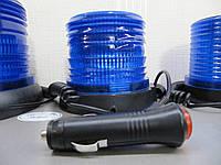Проблесковый маячок LED 04. 10-30V  , мигалка на магните синяя. https://gv-auto.com.ua, фото 1