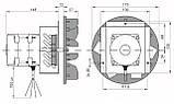Качественный дымосос для твердотопливного котла MplusM Улитка WWK 180/75W Ø-180 (диаметр дымохода 180мм), фото 5