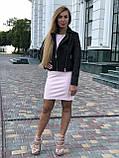 Черная брендовая куртка косуха, фото 4