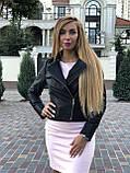 Черная брендовая куртка косуха, фото 7