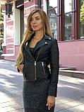 Черная брендовая куртка с вышивкой, фото 2