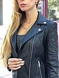 Черная брендовая куртка с вышивкой, фото 3