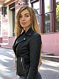 Черная брендовая куртка с вышивкой, фото 6