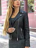 Черная брендовая куртка с вышивкой, фото 7