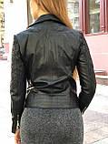 Черная брендовая куртка с вышивкой, фото 5